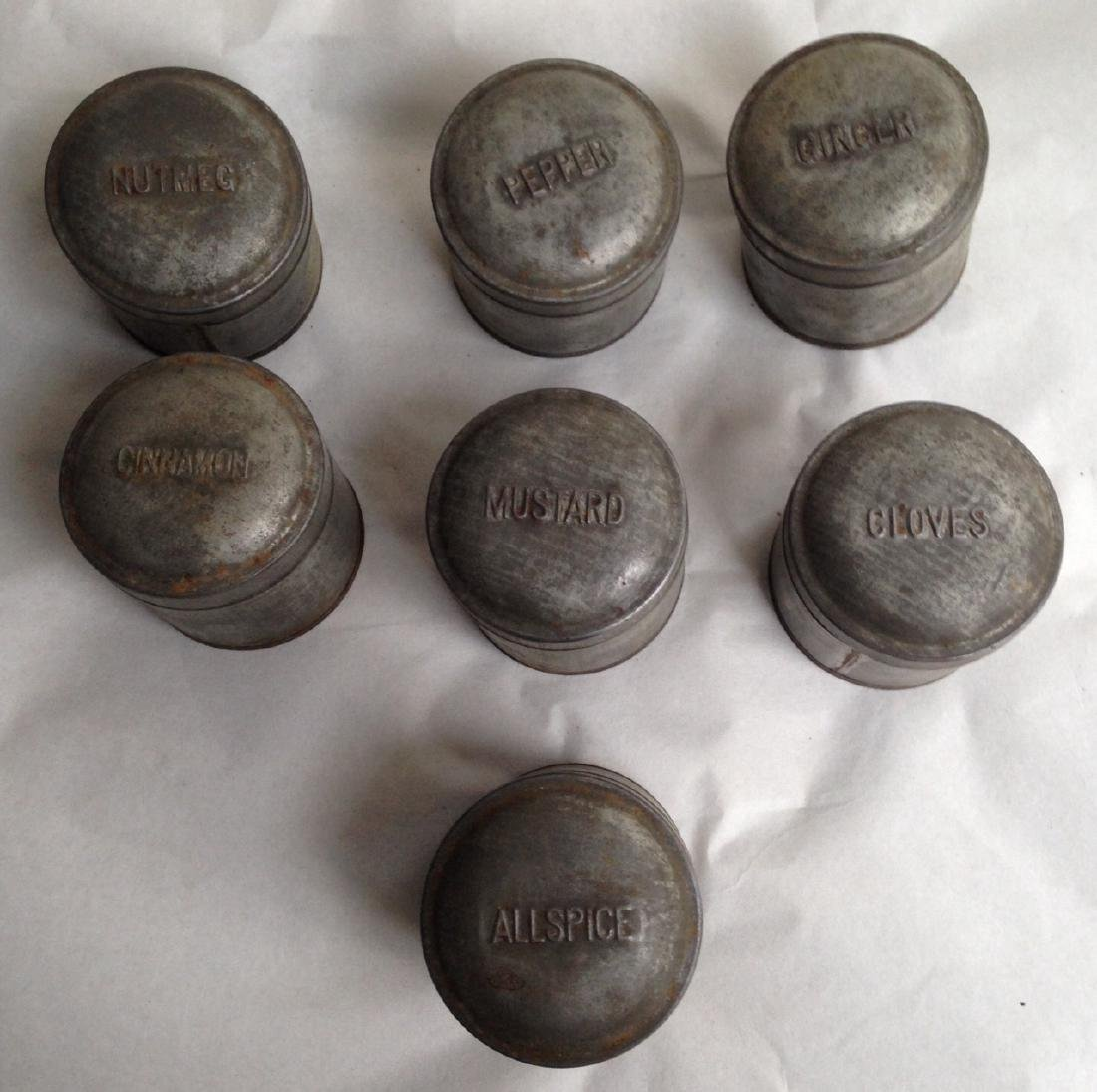 19th Century Tin Spice Set - 2