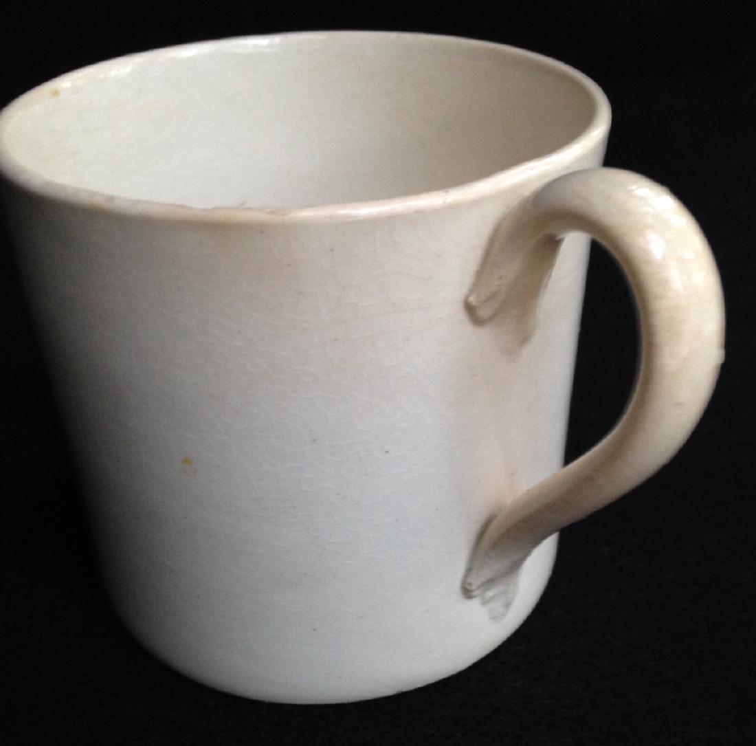 19thc Creamware Child's Cup - 2