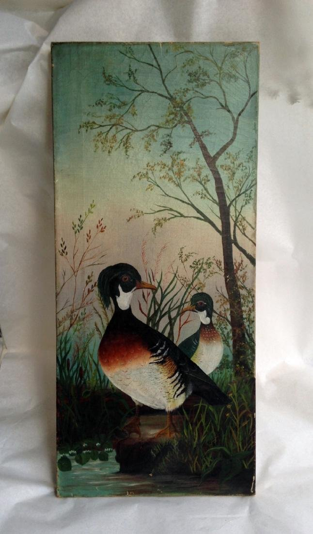 Canvas Wood Duck Oil Painting