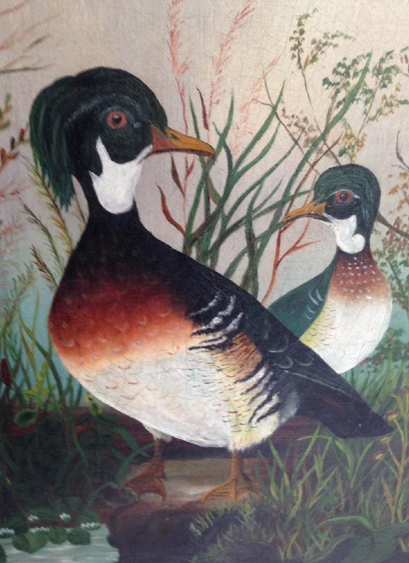 Canvas Wood Duck Oil Painting - 2