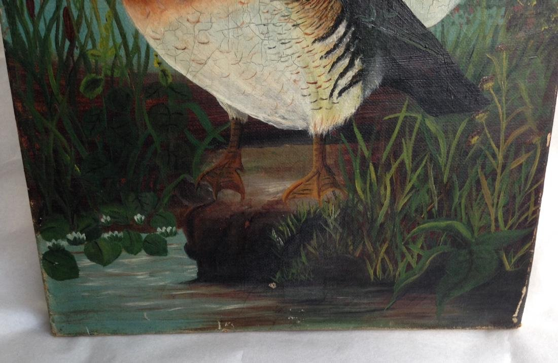 Canvas Wood Duck Oil Painting - 4