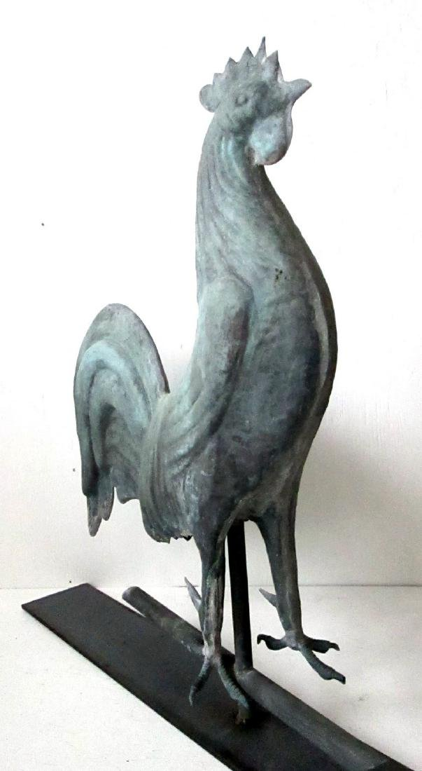 Excellent Early Rooster Weathervane - 6