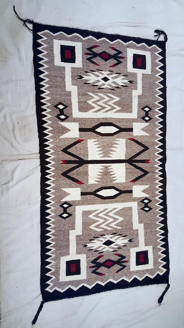 Navajo Storm Pattern Variation Pictorial Rug 1950's