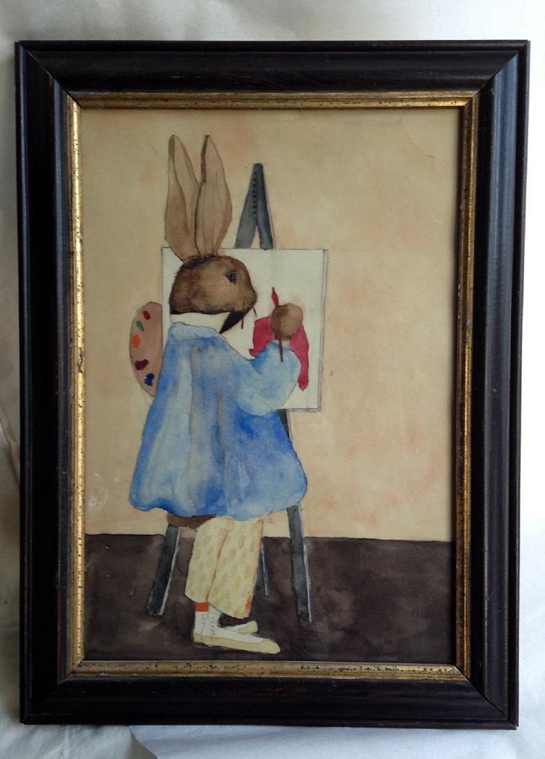 Rabbit Watercolor Painting