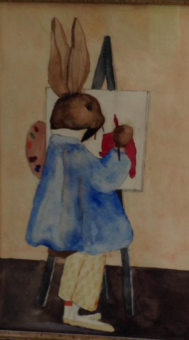 Rabbit Watercolor Painting - 2