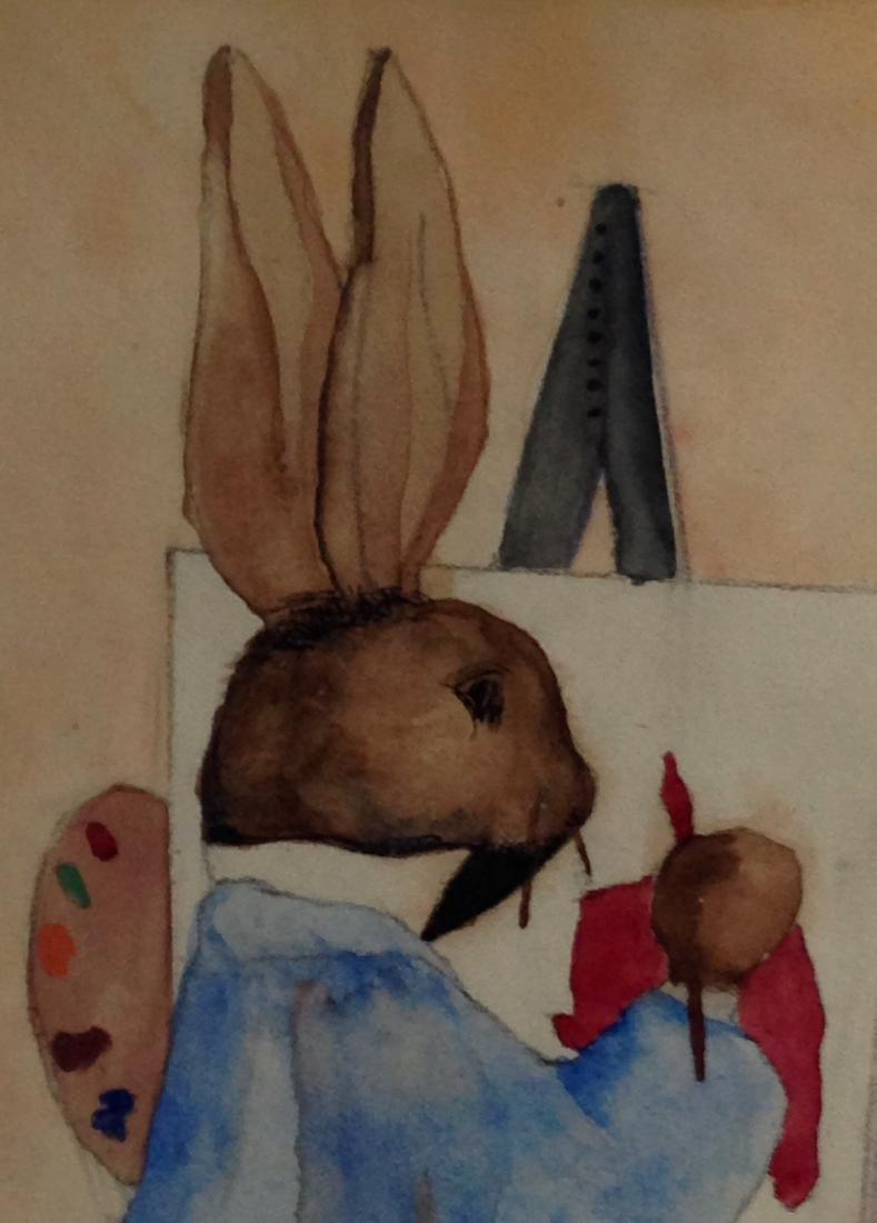 Rabbit Watercolor Painting - 3