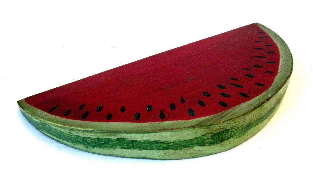 Vintage Carved Watermelon Slice