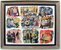 Mad Men Painting of Advertising Agency by Kelley