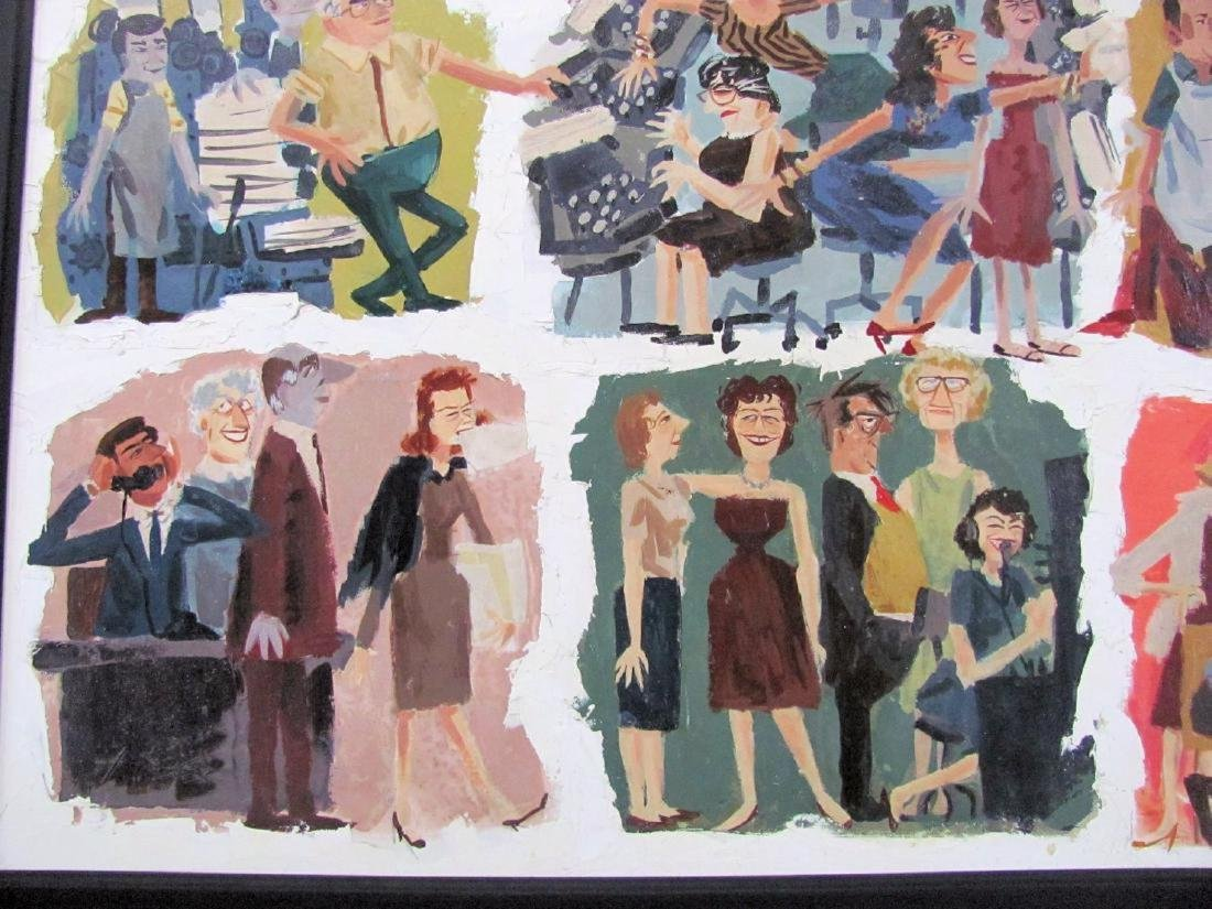 Mad Men Painting of Advertising Agency by Kelley - 2