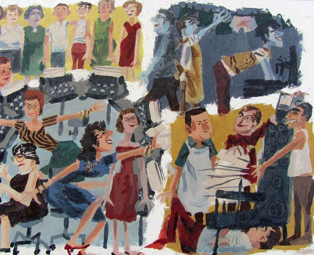 Mad Men Painting of Advertising Agency by Kelley - 3