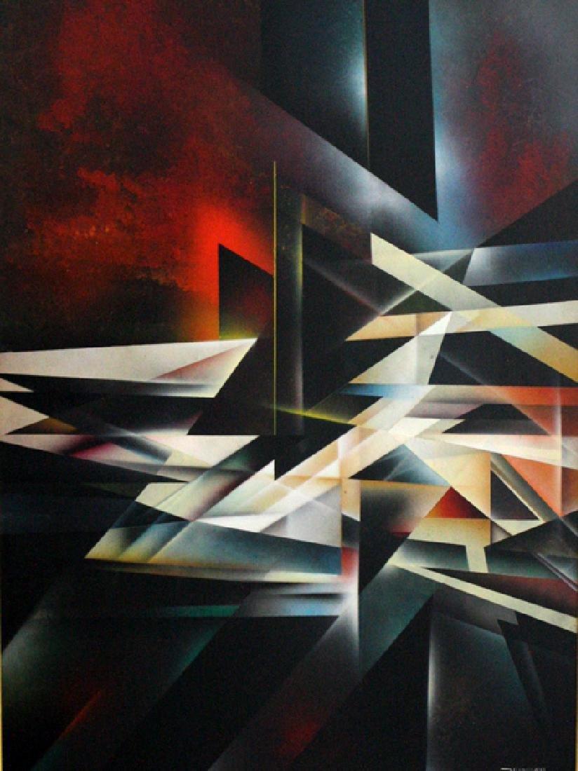 Geometrical Abstract by Leonardo Nierman