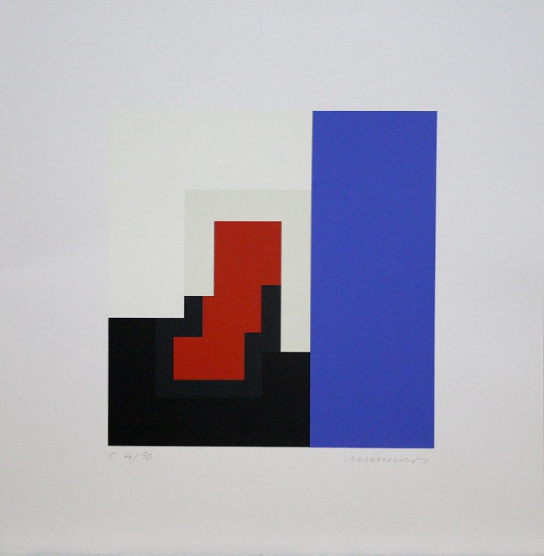 Three Untitled Lithographs by Jo Niemeyer - 3