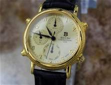 Bellini Rare Unisex Alarm Chronograph Gold Plated Watch