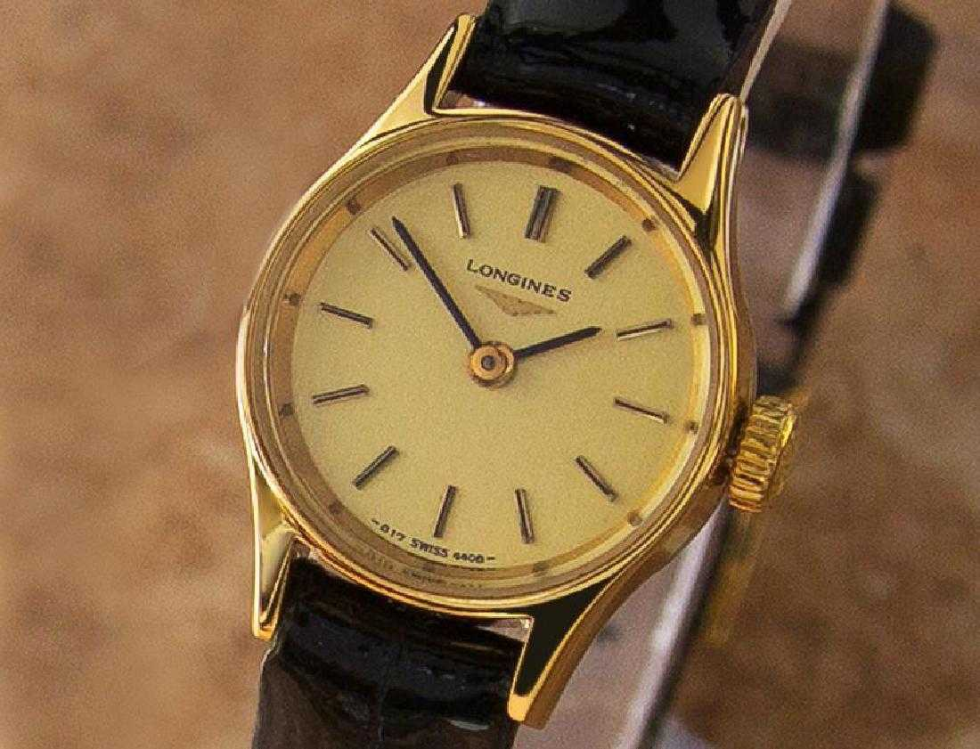 e1528ea61b1 Longines 1980s Petite Gold-Plated Ladies Swiss Watch