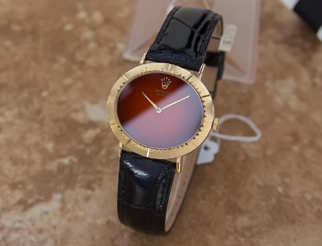 Vintage Rolex Cellini 18K Solid Gold 1970s Mens Watch - 2