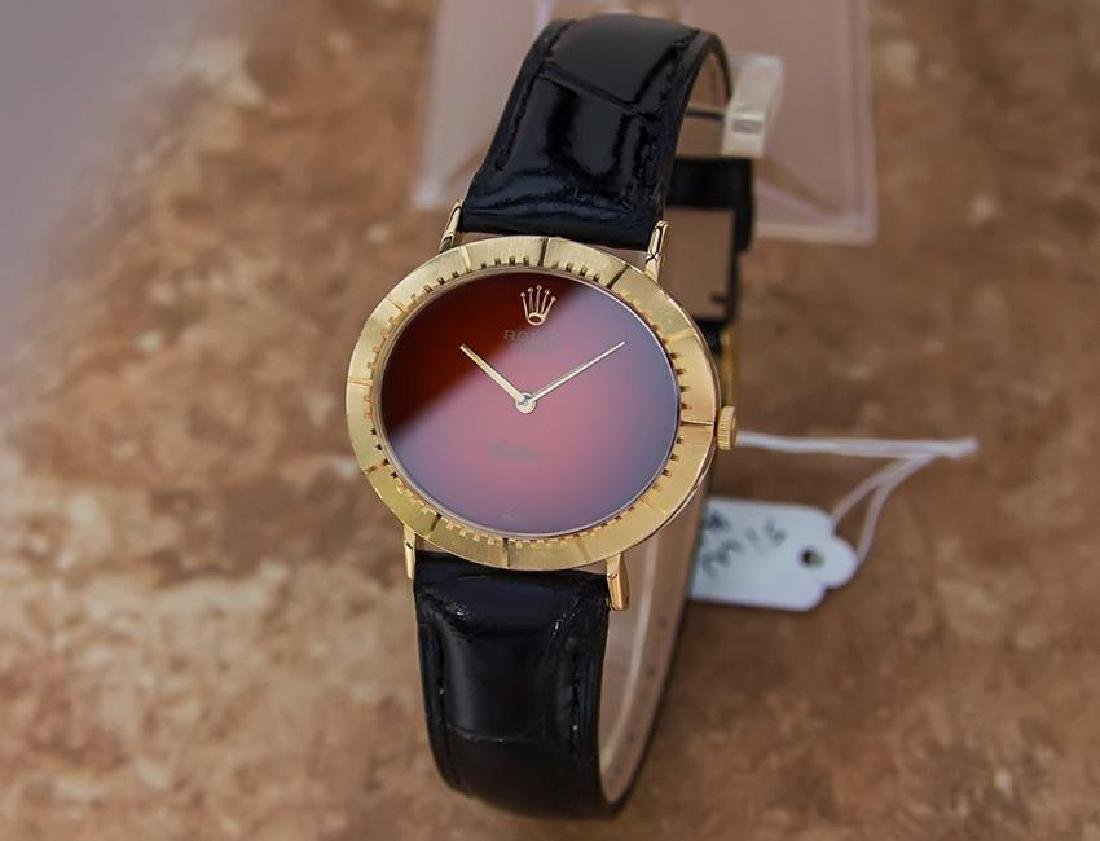 Vintage Rolex Cellini 18K Solid Gold 1970s Mens Watch - 3