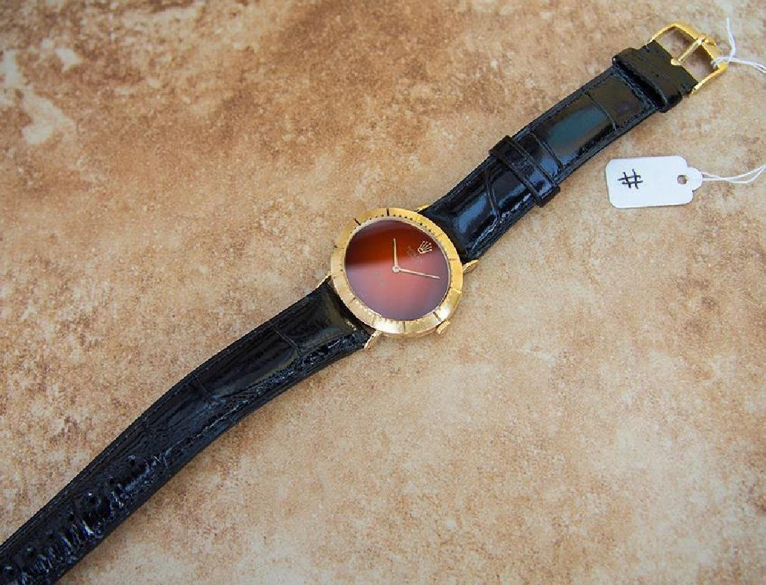 Vintage Rolex Cellini 18K Solid Gold 1970s Mens Watch - 6