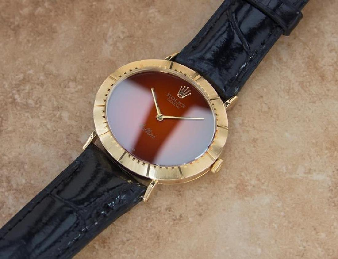 Vintage Rolex Cellini 18K Solid Gold 1970s Mens Watch - 7