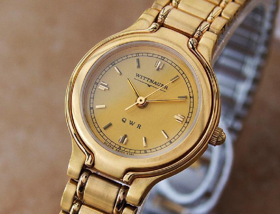 Wittnauer by Longines QWR Ladies 18K Gold-Plated Watch
