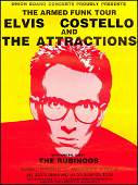 1979 Elvis Costello Armed Funk Tour Poster