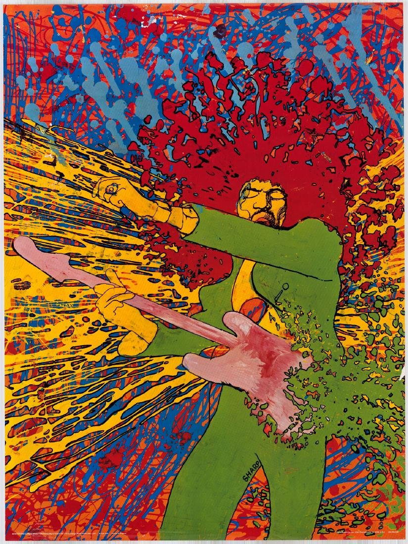Rare Martin Sharp Jimi Hendrix Poster
