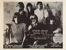Rare 1968 Jefferson Airplane Salt Lake City Poster