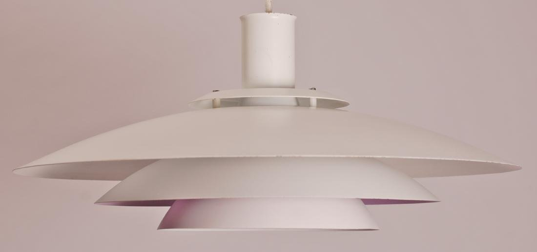 Form Light Danish White Pendant Lamp, 1970s