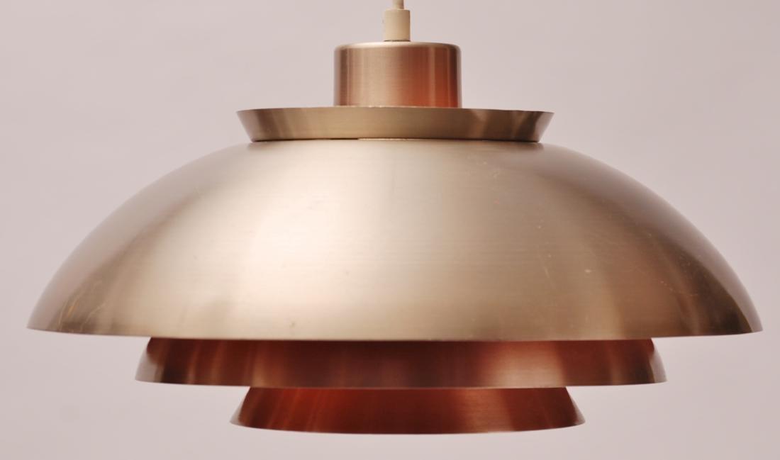 Modern Danish Aluminium Pendant Lamp, 1970s