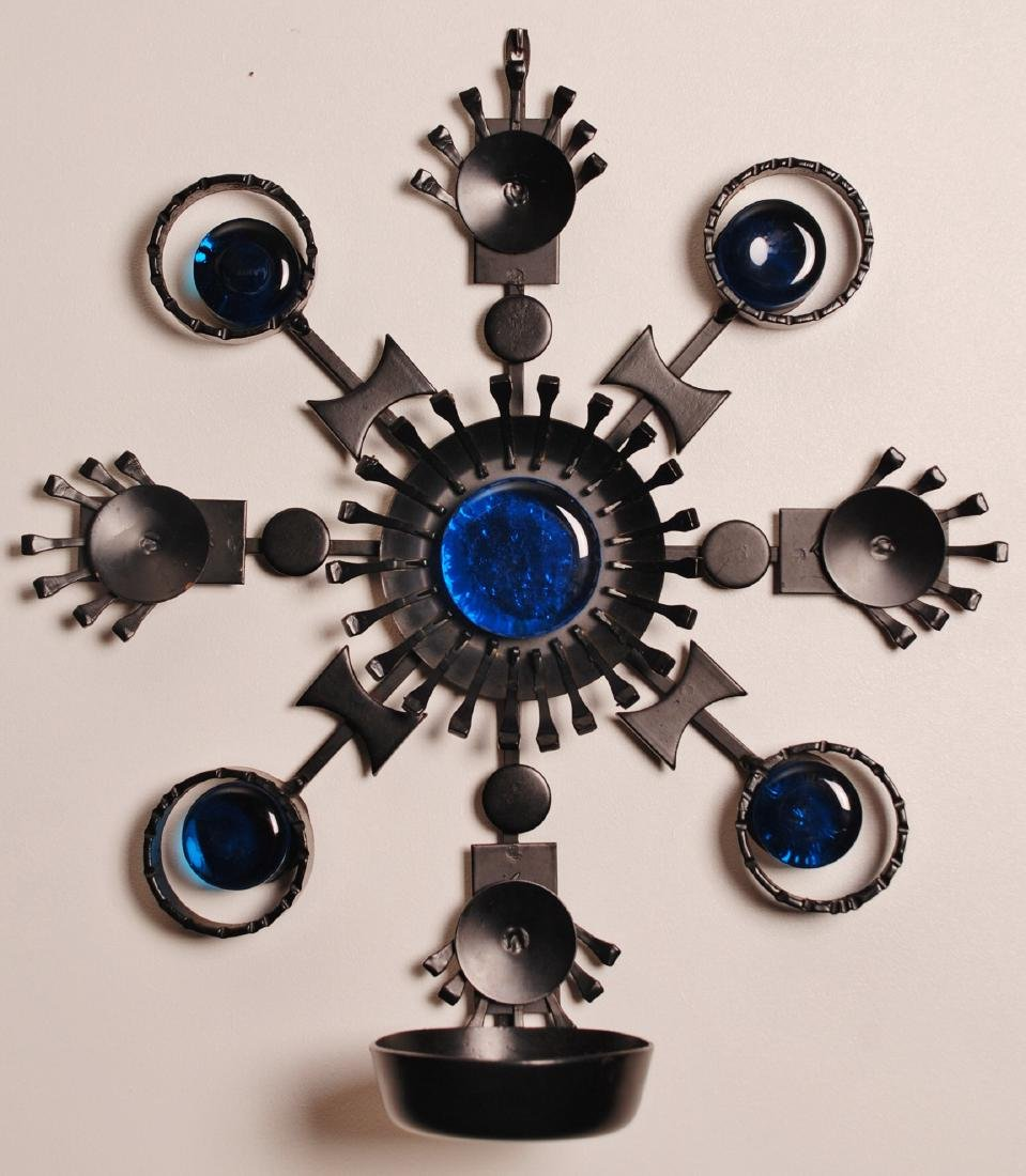 Candle holder wall decoration made in Denmark by Dantoft in 1970s