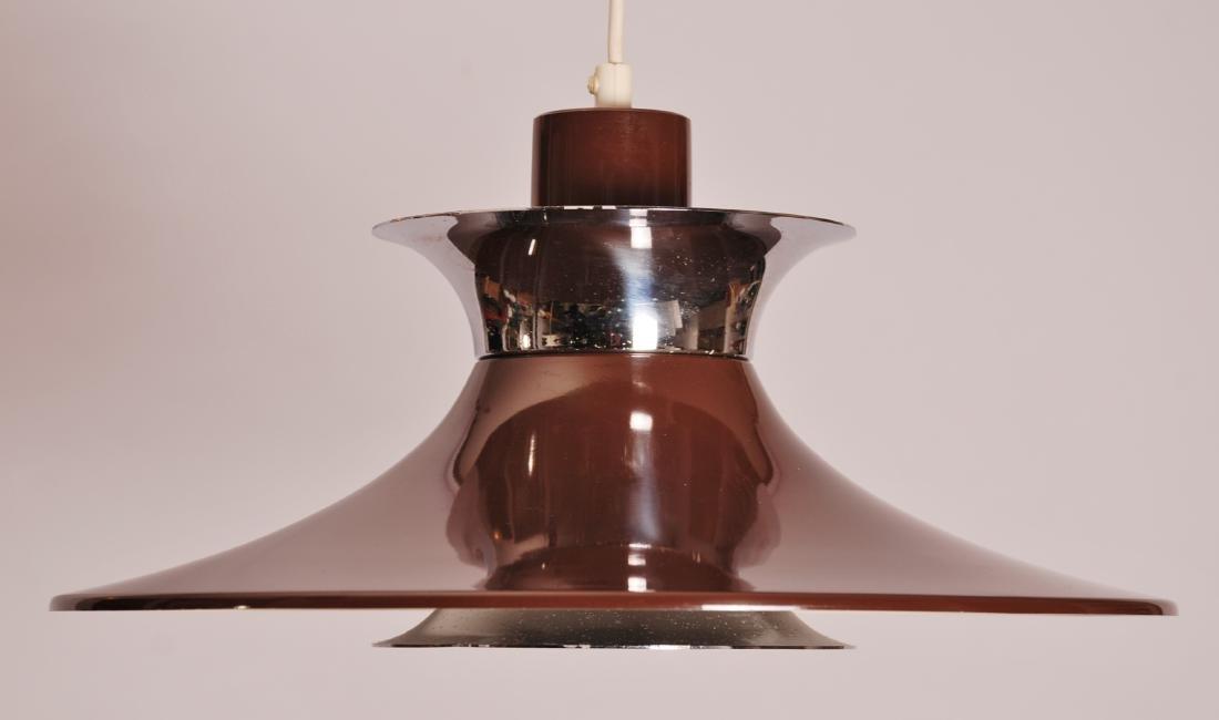 Danish Brown Pendant Lamp, 1960s