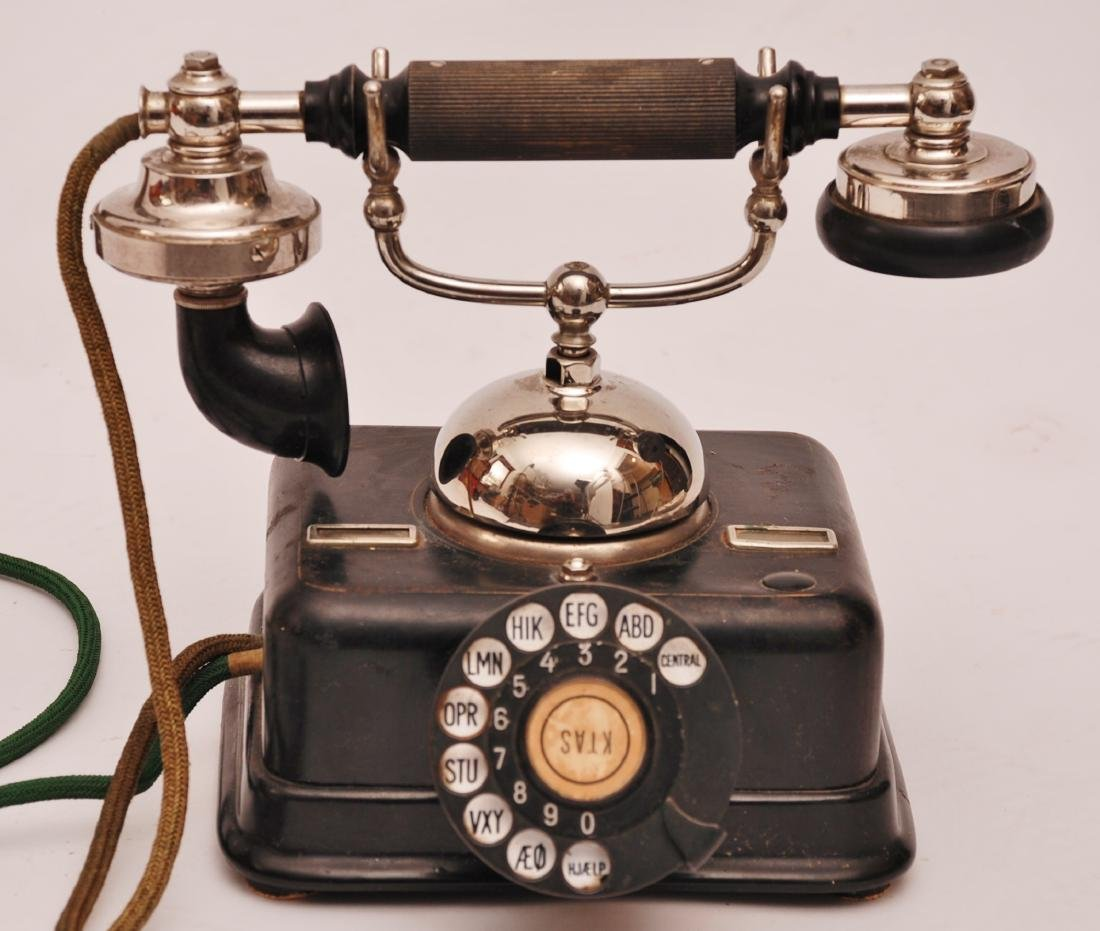 Vintage Danish KTAS Rotary Telephone, 1930s