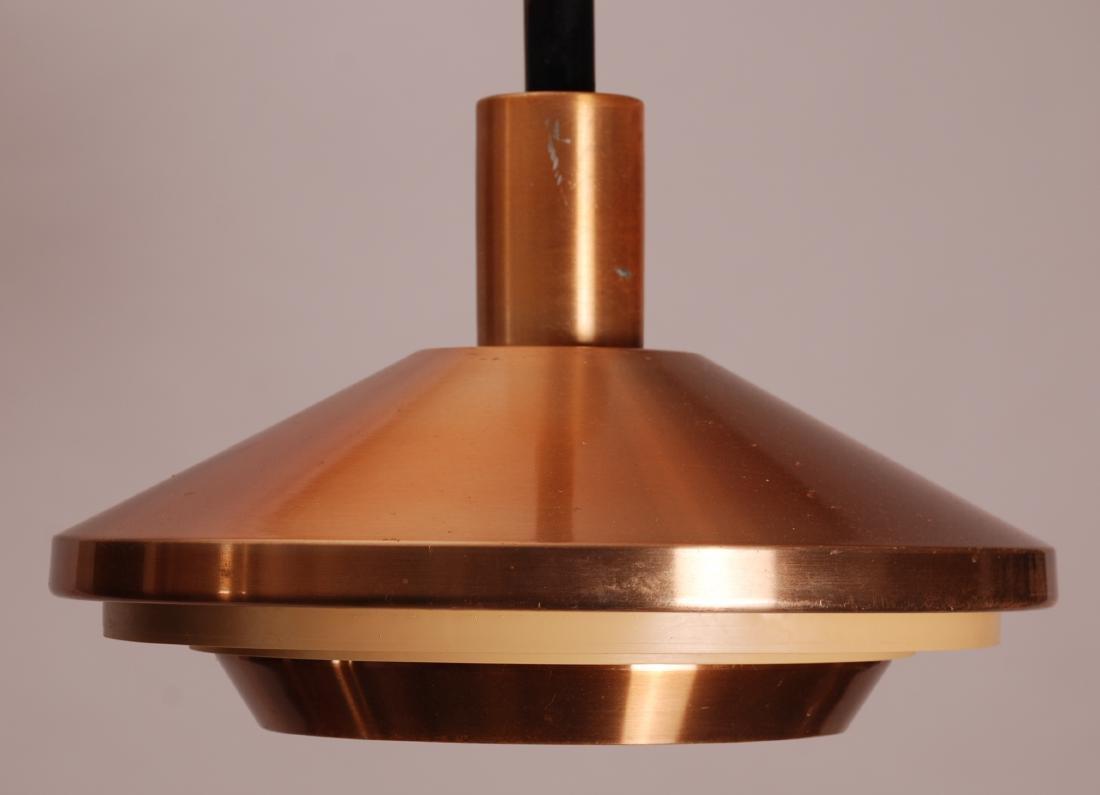 Danish Copper Coated Pendel Lamp, 1960s