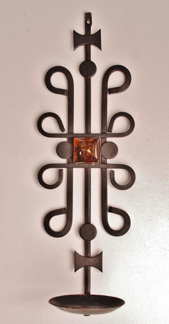 Dantoft Danish Steel Wall Deco Candleholder, 1960s