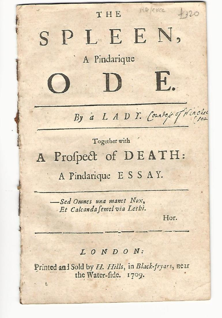 1709 The Spleen, A Pindarique Ode. By a Lady.