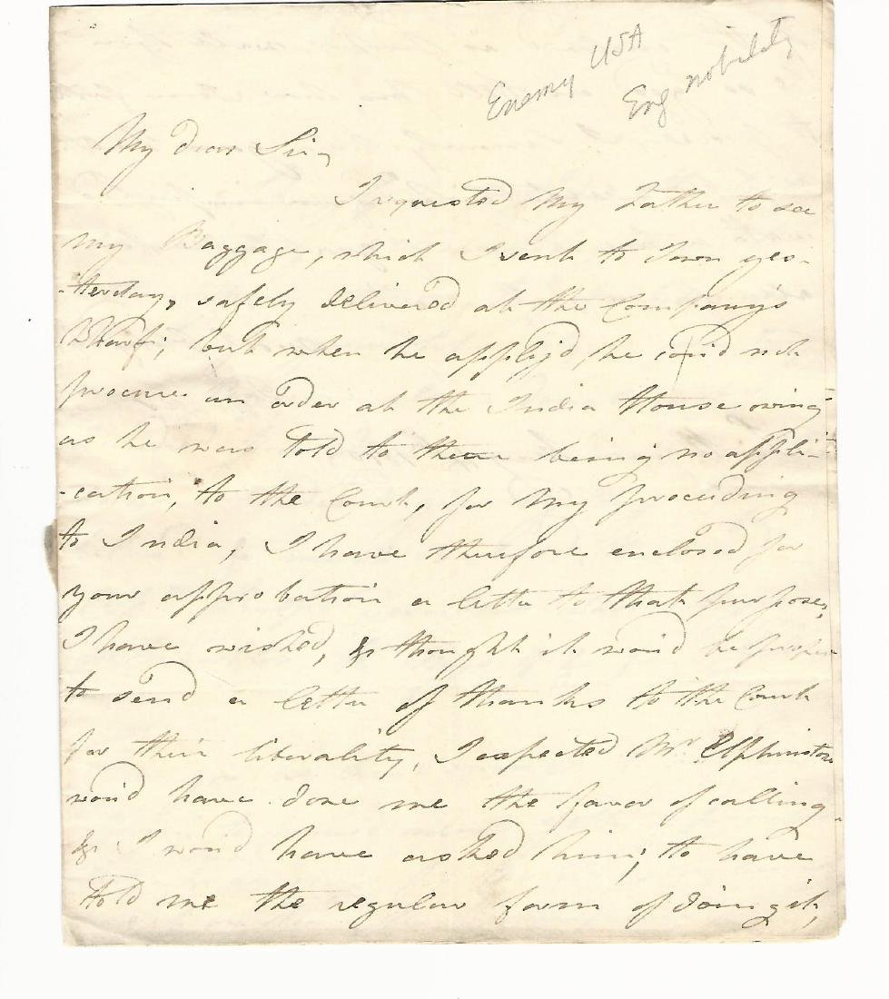 1800 Three page autographed letter of William Dundas