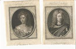 Two 1786 Engravings Duke and Duchess of Marlborough