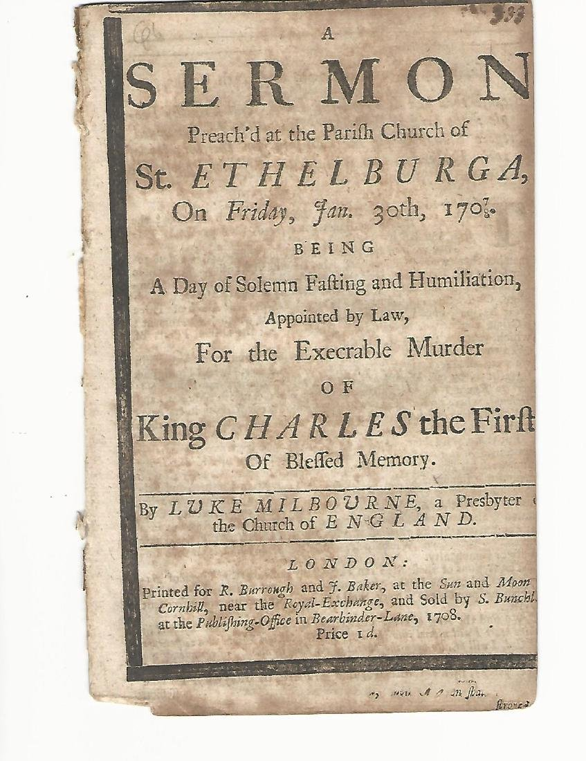 1708 Sermon Preached Martyrdom of Charles I