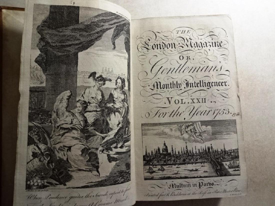 1753 Volume of London Magazine w/ Plates and Maps