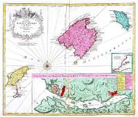 Lotter: Antique Map of Balearic Islands, Spain, 1770