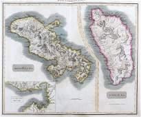 Thomson: Antique Map of Martinique & Dominica, 1816