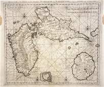 van Keulen Antique Map Guadeloupe  Marie Galante 1720
