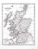 Malte-Brun: Antique Map of Scotland, 1834