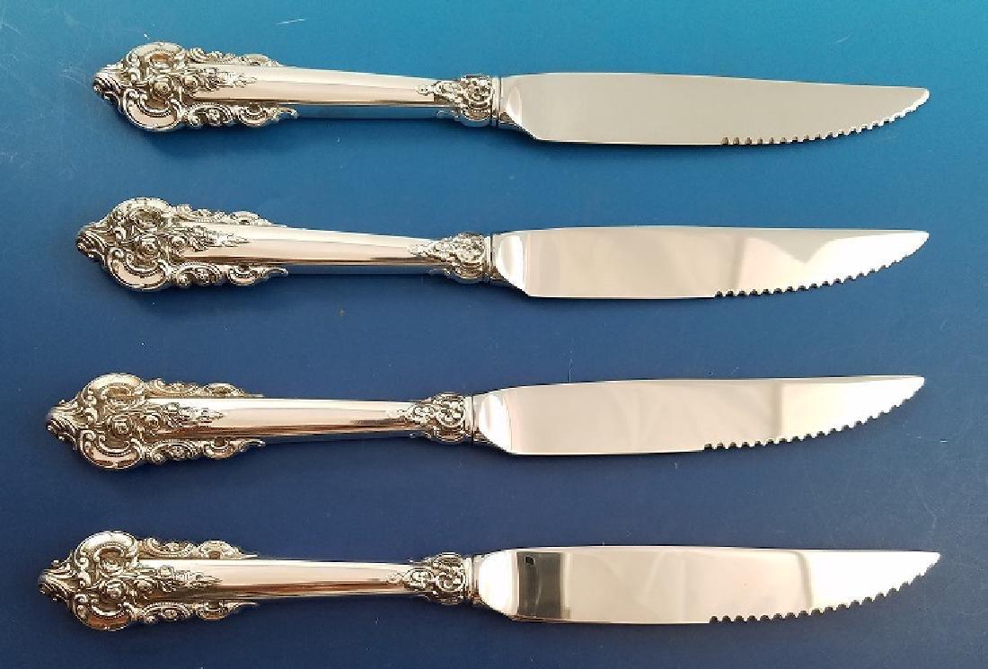 Wallace Grande Baroque Sterling Silver Steak Knives