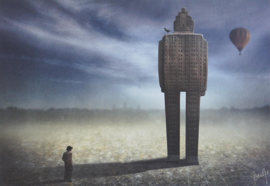 Ben Goossens Print in the Footsteps of Magritte