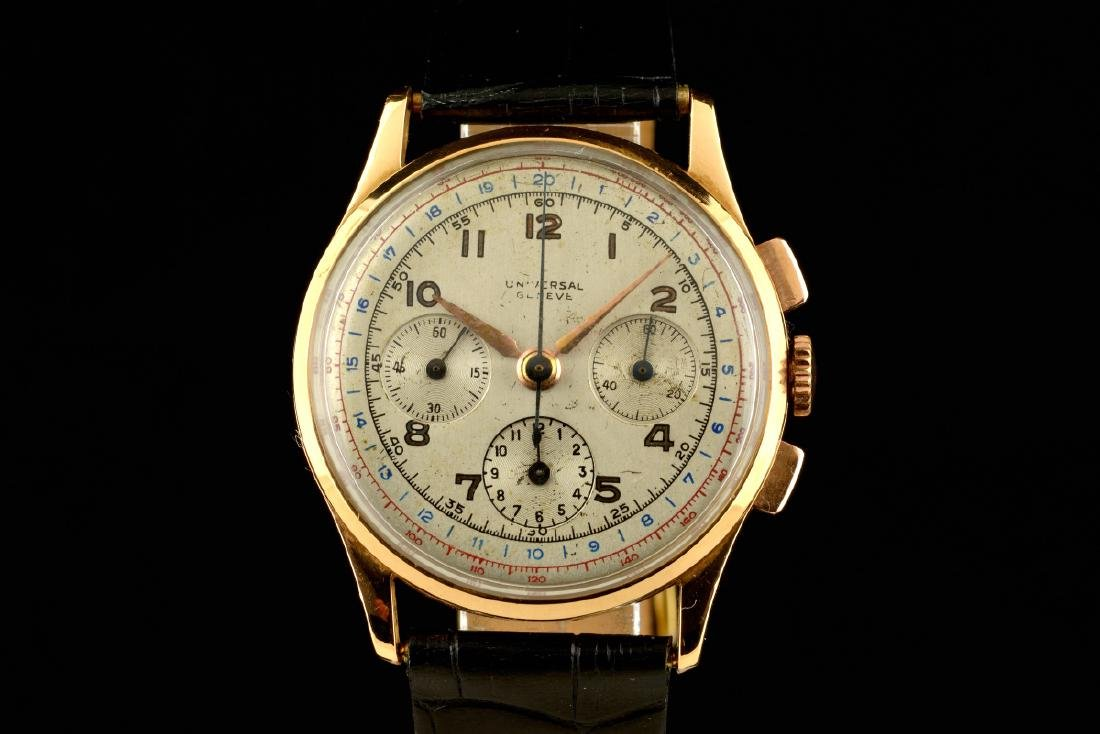 Universal Geneve Compax 18K Gold Watch
