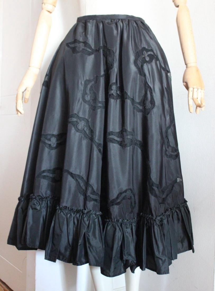 Silk Taffeta & Lace Skirt, c.1950's