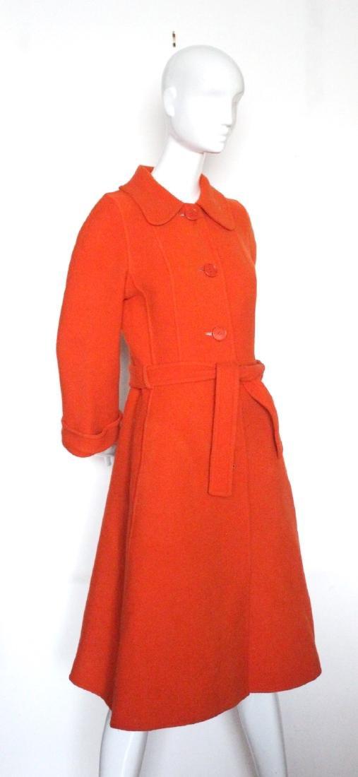 Guy Laroche Orange Wool Coat, ca. 1970's