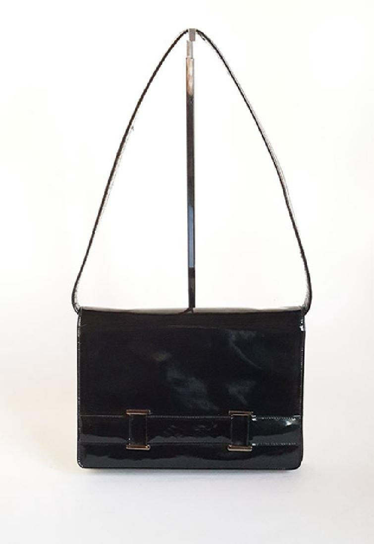 Saks Fifth Avenue Patent Leather Bag, ca. 1970's