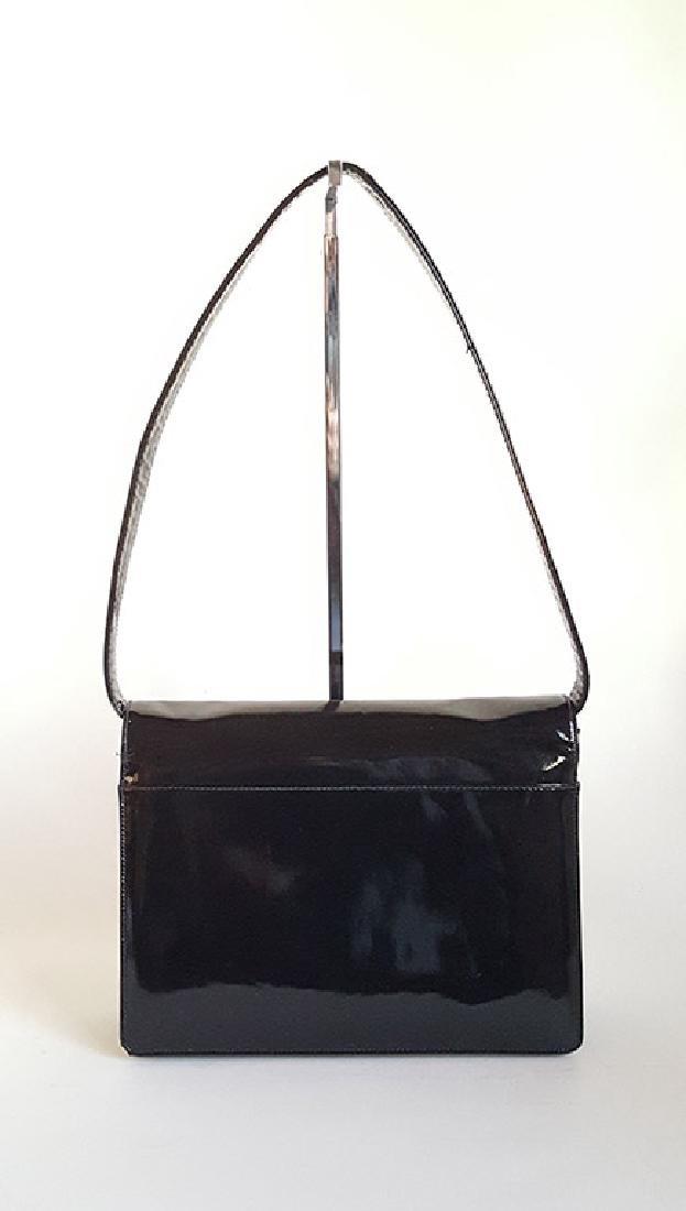 Saks Fifth Avenue Patent Leather Bag, ca. 1970's - 2