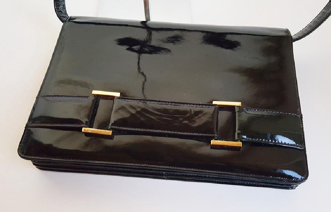 Saks Fifth Avenue Patent Leather Bag, ca. 1970's - 3